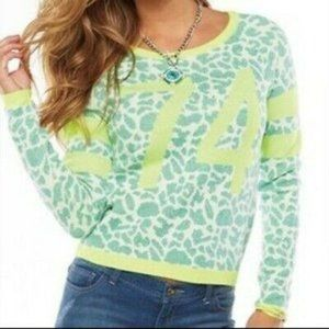 Juicy Couture Lime Leopard Sweater